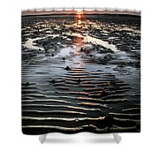 Sunset At The West Shore Llandudno Shower Curtain