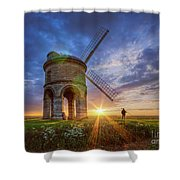 Sunset At The Windmill Shower Curtain