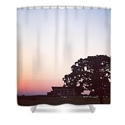 Sunset At The Winery Shower Curtain