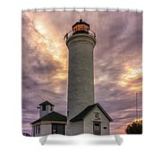 Sunset At Tibbet's Point Shower Curtain