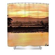 Sunset At Triabunna Tasmania Shower Curtain