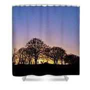 Sunset At Turlough Shower Curtain