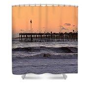 Sunset At Ventura Pier Shower Curtain