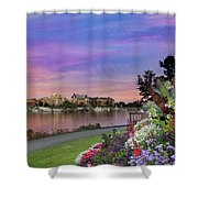 Sunset At Victoria Bc  Inner Harbour Shower Curtain