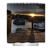 Sunset At West Bay Harbour Shower Curtain