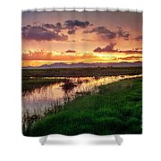 Sunset At Whitewater Draw Shower Curtain