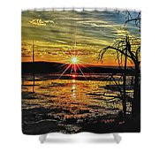 Sunset At Yellowstone Shower Curtain