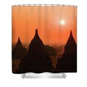 Sunset Bagan Shower Curtain
