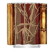 Sunset Bamboo With Frame Shower Curtain