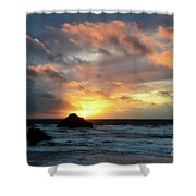 Sunset Bandon By The Sea Shower Curtain