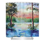 Sunset Bayou Shower Curtain