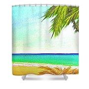 Sunset Beach #373 Shower Curtain