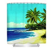 Sunset Beach Art North Shore Of Oahu In Summer #100 Shower Curtain