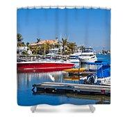 Sunset Beach Bolsa Bay Shower Curtain