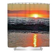 Sunset Beach Shower Curtain by Douglas Barnard