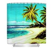 Sunset Beach Hawaiian #113 Shower Curtain