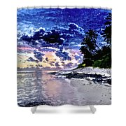 Sunset Beach Park Shower Curtain