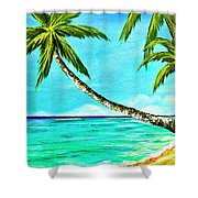Sunset Beach#370  Shower Curtain