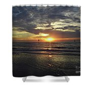 Sunset Beauty At Clearwater Shower Curtain