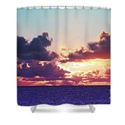 Sunset Behind Clouds Shower Curtain