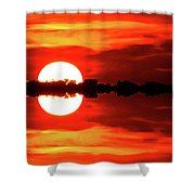 Sunset Behind The Trees At Kempenfelt Bay Two  Shower Curtain