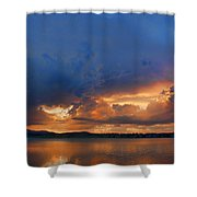 Sunset Blues Shower Curtain