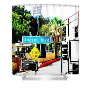 Sunset Blvd Shower Curtain