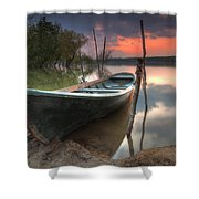 Sunset Boat Shower Curtain