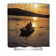 Sunset Boating  Shower Curtain