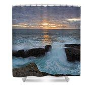Sunset Breach Shower Curtain
