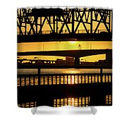 Sunset Bridge 2 Shower Curtain