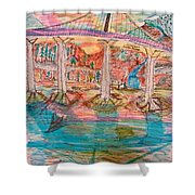 Sunset Bridge Shower Curtain
