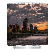 Sunset Bridge Shower Curtain