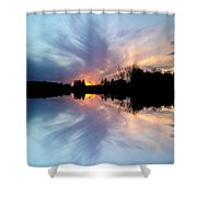 Sunset Brushstrokes Shower Curtain