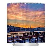 Sunset Budapest Shower Curtain