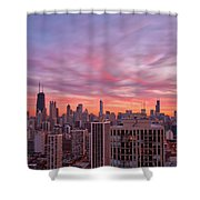 Sunset Burn Shower Curtain