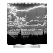 Sunset Bw Shower Curtain
