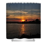Sunset By The Inlet Shower Curtain