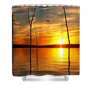 Sunset By The Water Shower Curtain