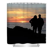 Sunset California Coast Shower Curtain