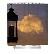 Sunset Candle Shower Curtain