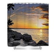 Sunset Caribe Shower Curtain by Stephen Anderson