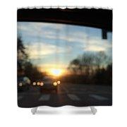 Sunset Cars Shower Curtain