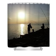 Sunset Catch, Nanticoke, Maryland Shower Curtain