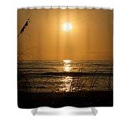 Sunset On Barefoot Beach Shower Curtain