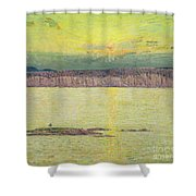 Sunset Shower Curtain by Childe Hassam