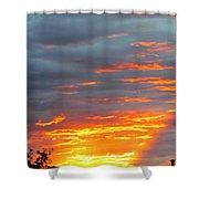 Sunset Christchurch New Zealand Shower Curtain
