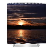 Sunset Shower Curtain by Cim Paddock