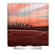 Sunset City Shower Curtain