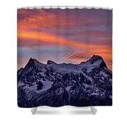 Sunset Clouds At Cerro Paine Grande #3 - Chile Shower Curtain